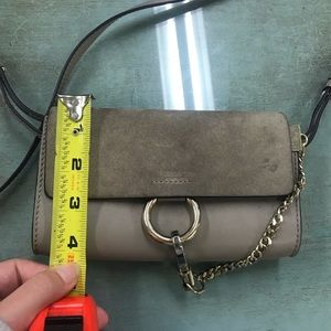Chloe Bags - Chloe faye crossbody in motty grey